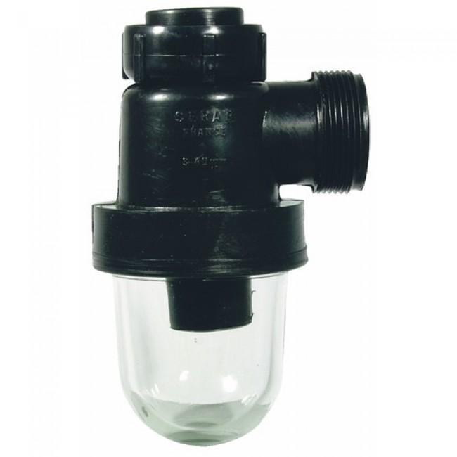 Siphon de laboratoire à culot en verre SANILAB