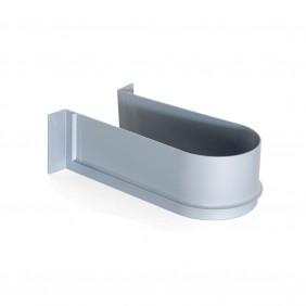 Courbe sous-évier pour tiroir de salle de bain-gris EMUCA