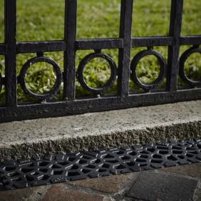 Caniveau Self 100 -grilles Voronoï- Citrine et diamant  - sans pentes ACO PASSAVANT