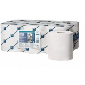 Bobine ouate essuie-main - blanche - lisse - distributeur Starter Pack TORK
