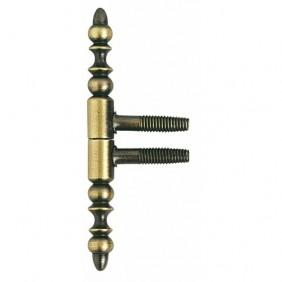 Fiche - portes bois - nœuds à vases - vieux bronze - 13 mm BROS