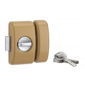 Verrou de sûreté - bouton/cylindre 45 mm - clé réversible - Universel FTH THIRARD