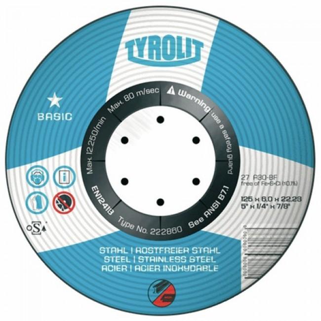Disque à ébarber métaux BASIC-diamètre 115mm TYROLIT