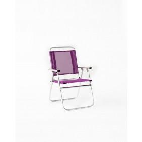 Lot de 4 fauteuils inclinables – fuschia – Camelia 190 HEVEA