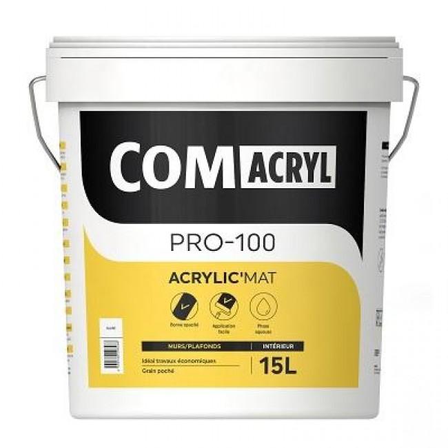 Peinture de finition mat - 15 litres - Comacryl Acryl'mat COMUS