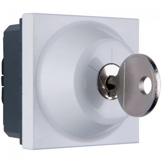Interrupteur à clé Mosaic - 2 positions - 6 A - 2 modules - blanc LEGRAND