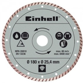 Lame turbo diamanté - diamètre 180 x 25,4 mm - coupe carrelage EINHELL