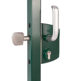 Serrure de portail coulissant - cylindre européen - LSKZ vert LOCINOX