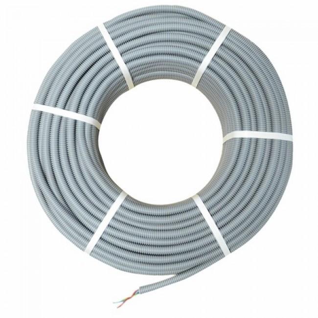 Gaine ICTA - grise - préfilée - couronne 100 m CABLERIE DAUMESNIL