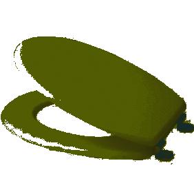Abattant wc - Blanc - Charnières inox - MDF SPIRELLA
