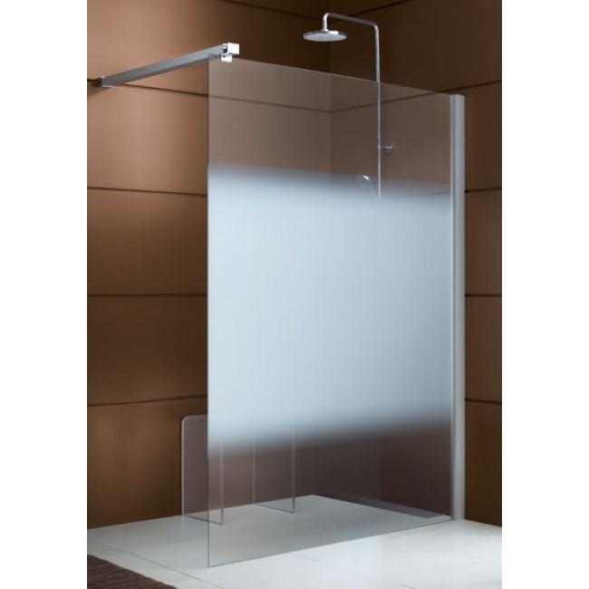 Paroi de douche ouverte 6mm - fixe réversible - profilé blanc Django LEDA