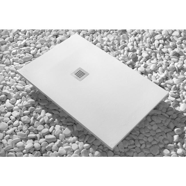 Receveur de douche à poser en Luxtone - Strato blanc SANYCCES