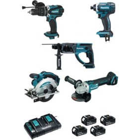 Pack outillage électroportatif - 5 machines - DLX5039PTJ MAKITA
