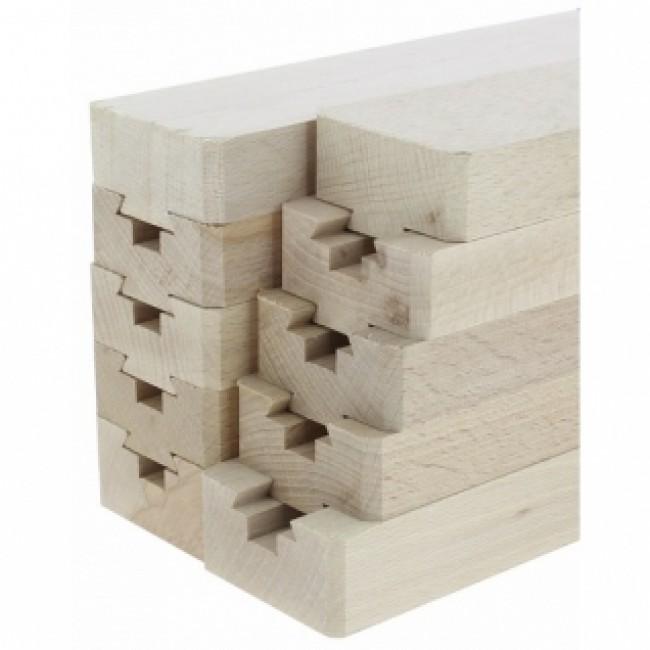 Coulisses de table en bois-Longueur lames 500 mm BRICOZOR