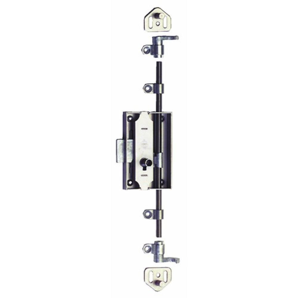 Serrure de meuble espagnolette 3 points s45 serfa bricozor - Serrure pour armoire metallique ...