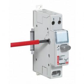 Inter poussoir modulaire double fonction contact 1NO + voyant LED - 1 module LEGRAND
