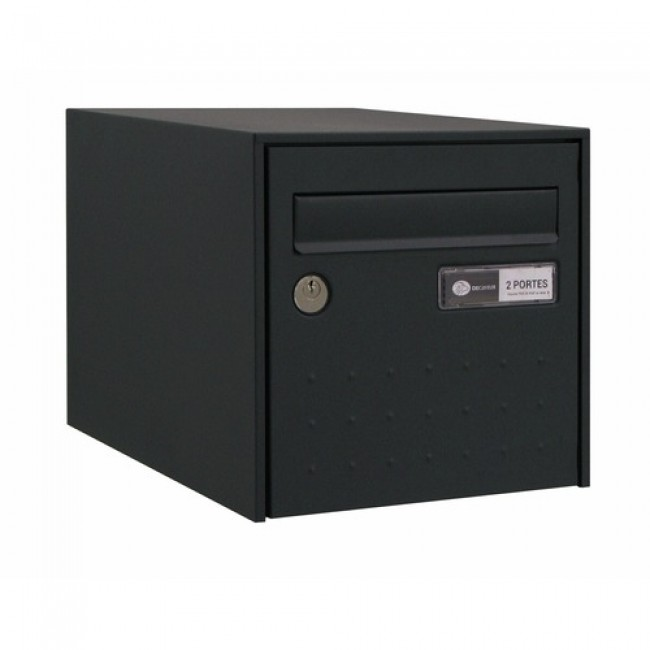 Boîte aux lettres - porte décor design - volet anti bruit - Steel Box DECAYEUX