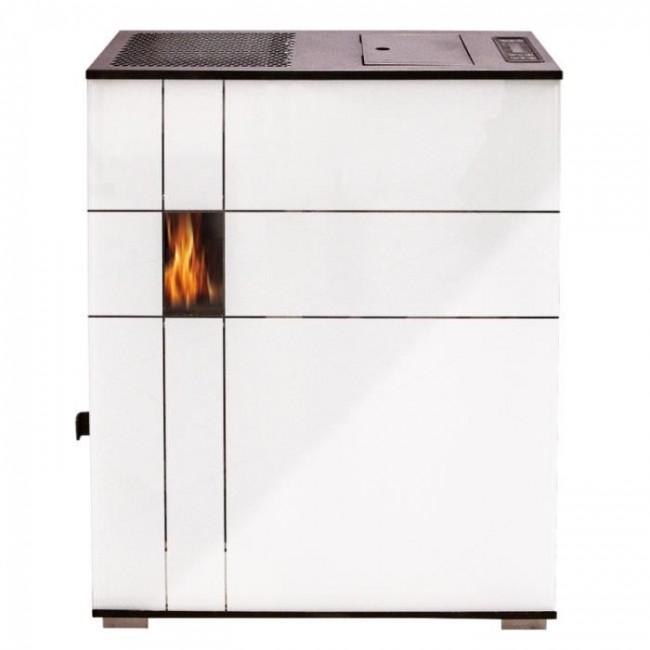 Poêle à granulés - 4,6KW - Eros - Blanc et Bordeaux Interstoves