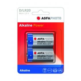 Blister 2 piles alcaline Mono D - LR20 AGFA