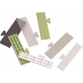 Cales de vitrage plastique - longueur 80 mm - largeur 26 mm GOETTGENS SA