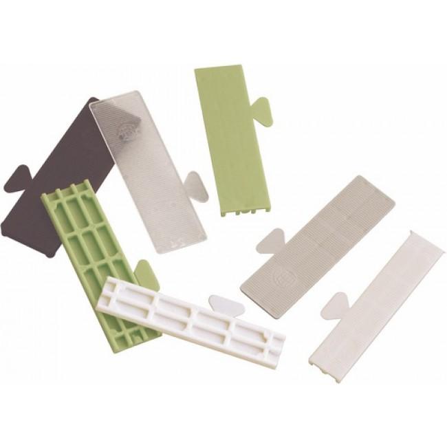 Cales de vitrage plastique - longueur 80 mm - largeur 22 mm GOETTGENS SA