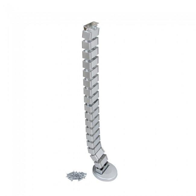 Gaine passe-câbles Pipe4 - finition aluminium peint EMUCA