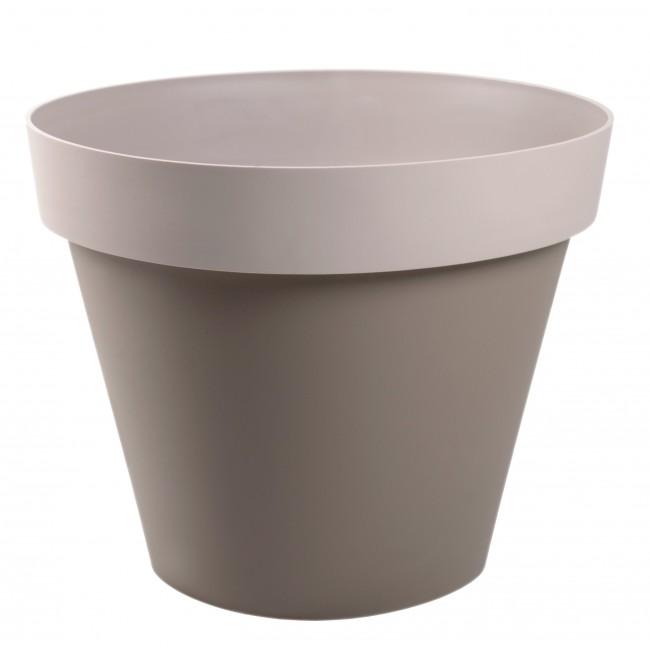 Pot taupe moka rond - diamètre 60 cm -  76 litres - Style 13686 EDA PLASTIQUES