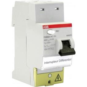 Interrupteur différentiel - à bornes décalées - Type AC ABB