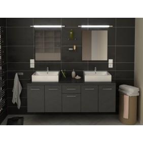 Meuble de salle de bain 150cm - Orelia - 3 finitions BAIN ROOM