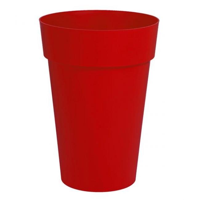 Pot haut rond rubis - diamètre 48 cm -  90 litres - Toscane 13637 EDA PLASTIQUES