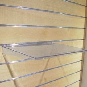 Tablette universelle avec arête pour panneaux rainurés BRICOZOR