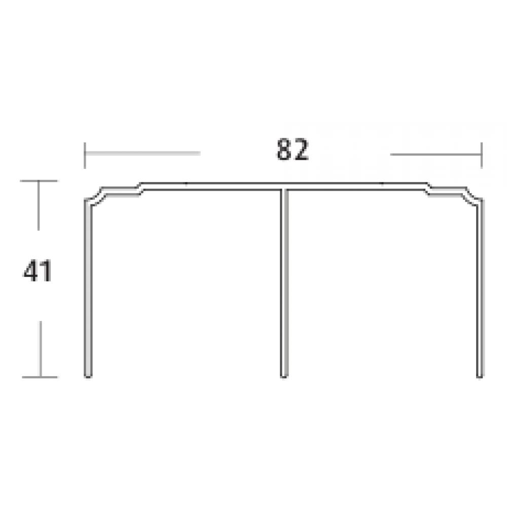rail double haut pour porte coulissante pro line p100 seed. Black Bedroom Furniture Sets. Home Design Ideas