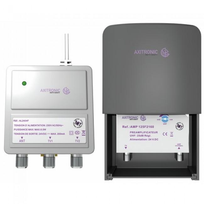 Kit pré-ampli UHF - amplificateur TNT - alimentation 24V CAE
