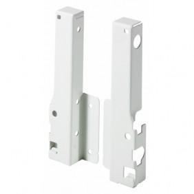 Raccords arrière pour parois en bois/aluminium-H 144mm-blanc HETTICH