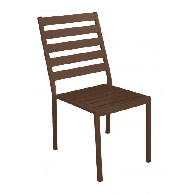Lot de 2 chaises de jardin aluminium - coussin écru - Angussa INDOOR OUTDOOR
