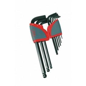 Jeu 9 clés allen 1.5 à 10 mm - tête sphérique 67AR9A SAM OUTILLAGE