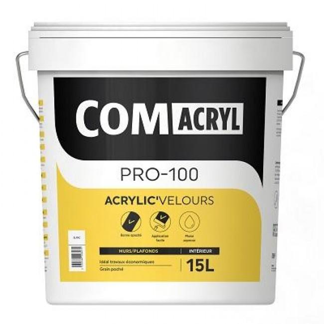 Peinture de finition velours - 15 litres - Comacryl Acryl'velours COMUS