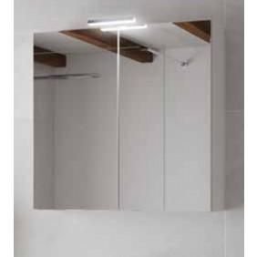 Armoire de toilette - Blanc brillant & Miroir - Angelo 800 ou 600mm Néova