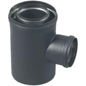 Conduit avec prise d'air pour poêle à granulés étanche diamètre 80x125 TEN