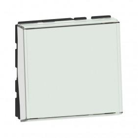 Poussoir inverseur porte étiquette Mosaic - 2 modules -  6A - blanc LEGRAND