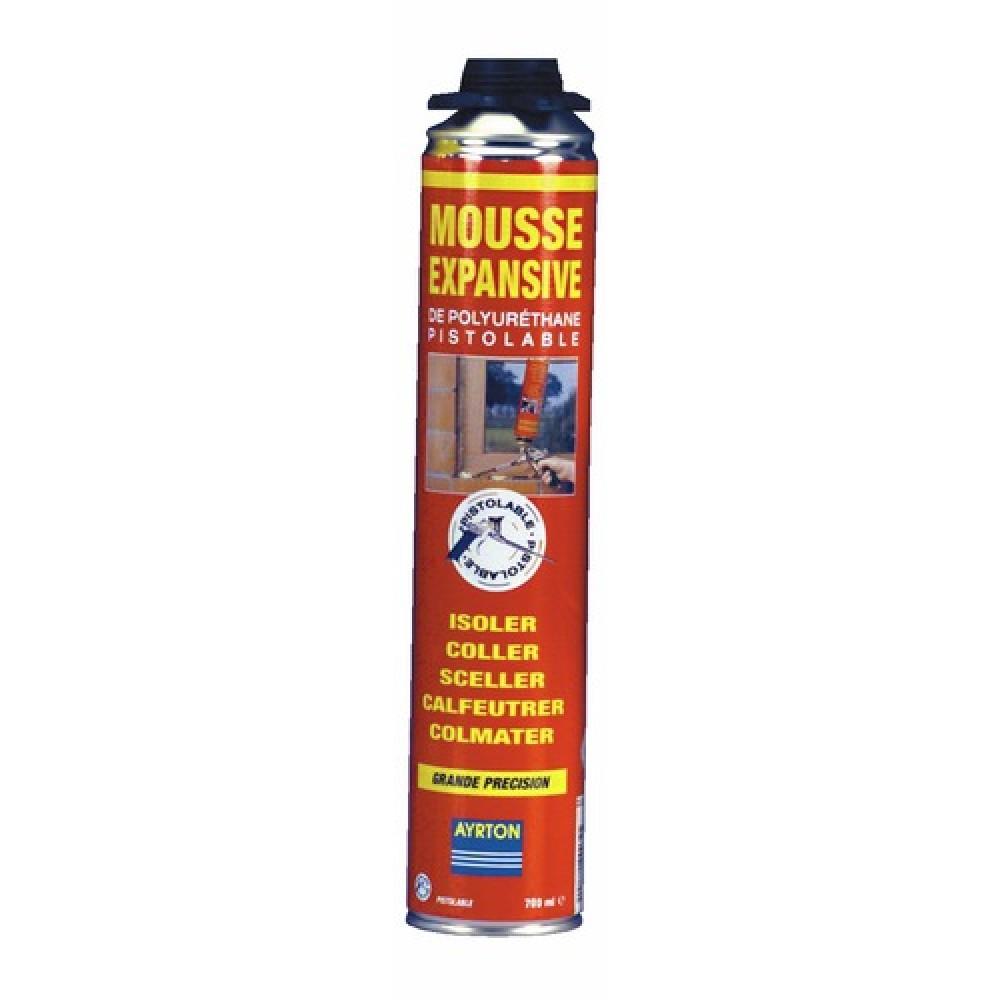 mousse polyur thane bombe pistolable visser 750 ml ayrton bricozor. Black Bedroom Furniture Sets. Home Design Ideas