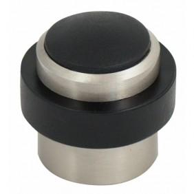 Butoir de sol aluminium creux finition inox - diamètre 37 x 36 mm BRICOZOR