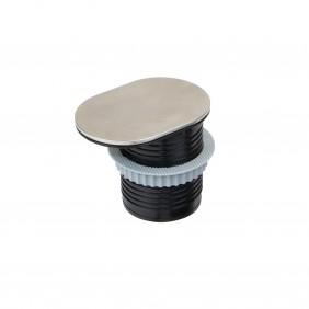 Multiprises à encastrer - avec couvercle - 2 prises - Vertikal Flat 60 EMUCA