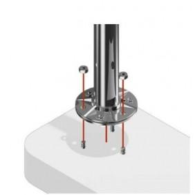 Poteau pour garde-corps - rond - diamètre 42,4 mm - inox Design Production