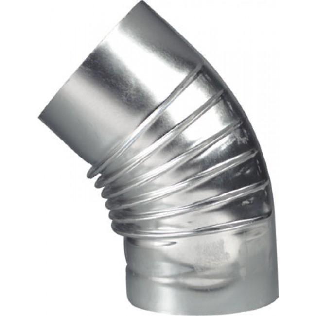 Coude à 45° en aluminium - évacuation et ventillation TEN