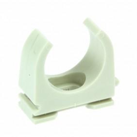 Collier de fixation pour tubes électriques - plastique gris - OPDZ DON QUICHOTTE