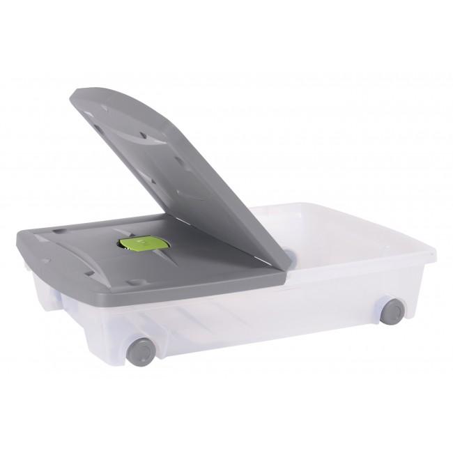Boite rangement sous lit avec roulette - 50 litres EDA PLASTIQUES | Bricozor