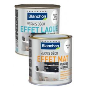 Vernis déco effet laqué et effet mat - intérieur - 0,5 L BLANCHON