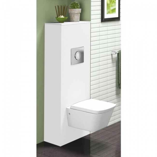 Meuble wc suspendu universel - blanc brillant