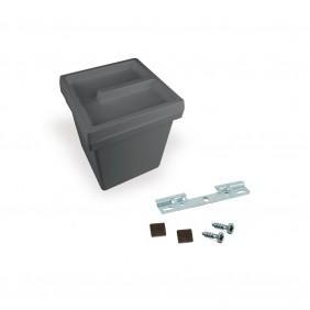 Poubelle de salle de bain 5 litres - Onda - anthracite EMUCA
